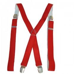 Bretelles fines unies rouge
