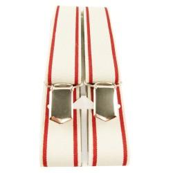 Bretelles fines beige à lignes externes rouges