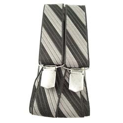 Bretelles à rayures argent et noir