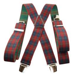 Bretelles Tartan écossais rouge