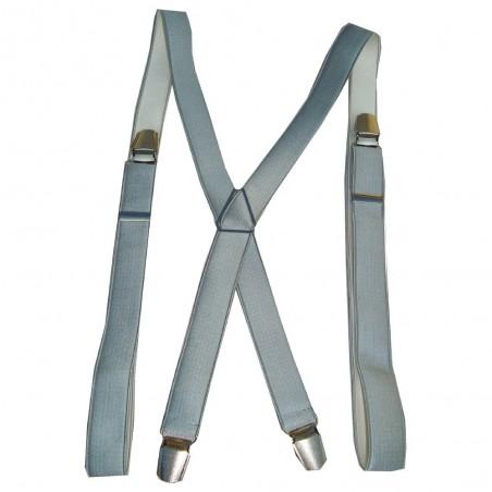 Bretelles fines unies gris clair