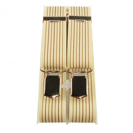 Bretelles beige à lignes verticales grande taille