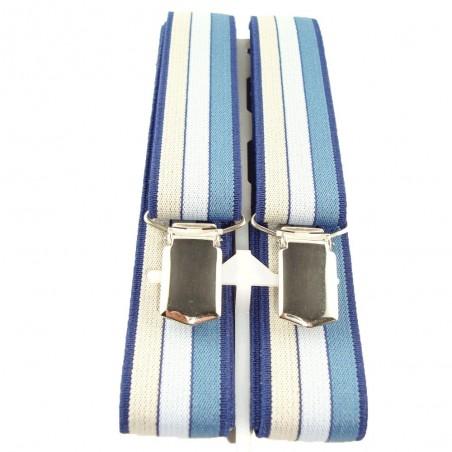 Bretelles fines bandes verticales colorées