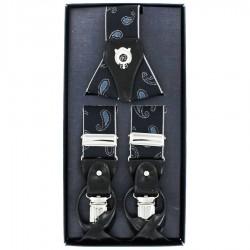 Bretelles homme Cotton Park cachemire bleu
