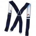 Bretelle homme bleu marine 120cm