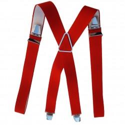 Bretelles homme rouge pompier