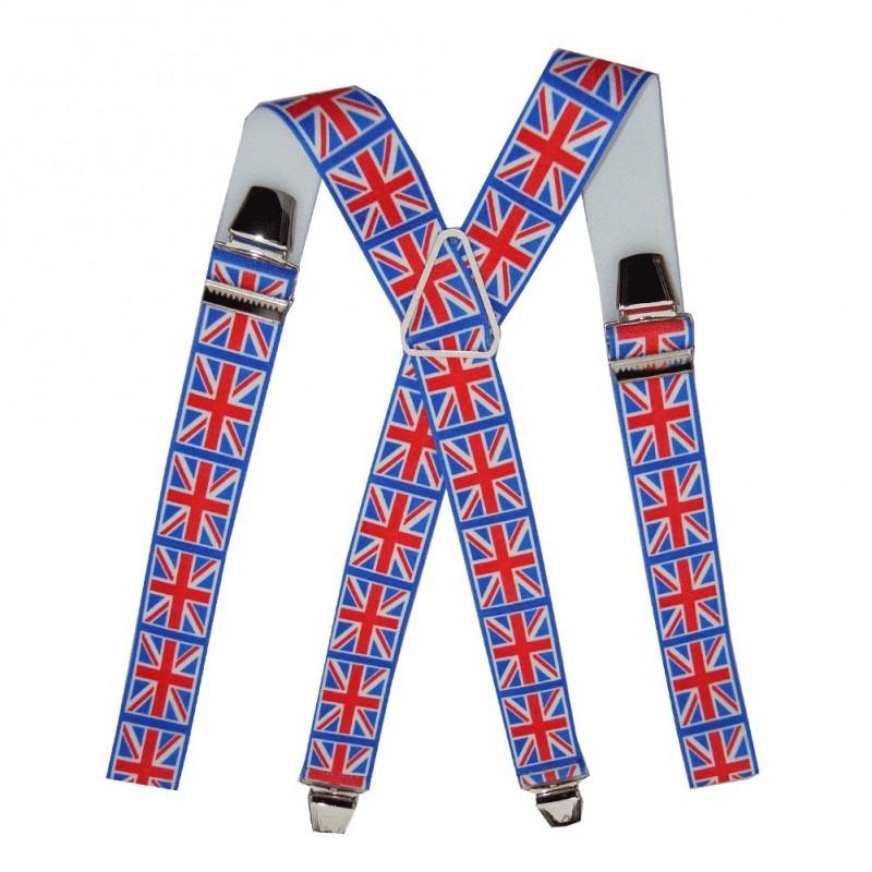 Bretelles homme drapeau Anglais